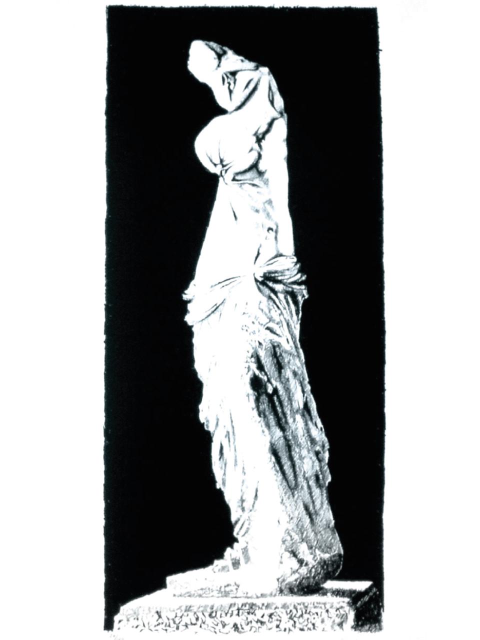 Pol Bury, Ramollissement de la Vénus de Milo II, 1972. Lithographie, 22/100, Atelier Clot éditeur. Collection Centre de la Gravure, La Louvière